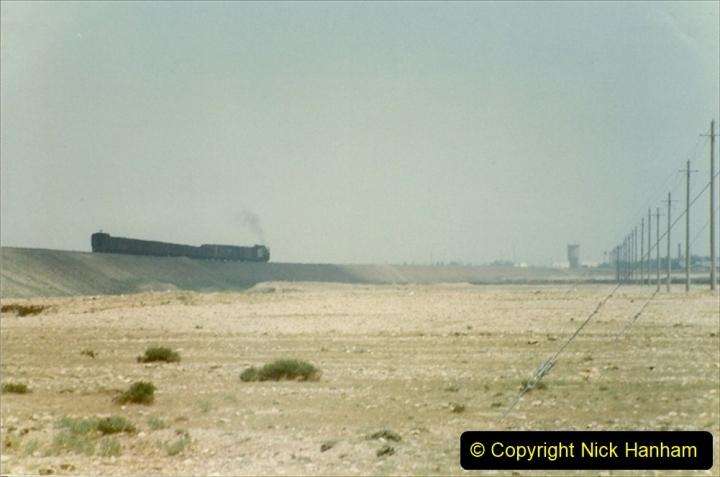 Pakistan and China 1996 June. (289) Linesiding outside Shizuishan. 289