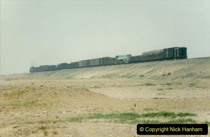 Pakistan and China 1996 June. (291) Linesiding outside Shizuishan. 291