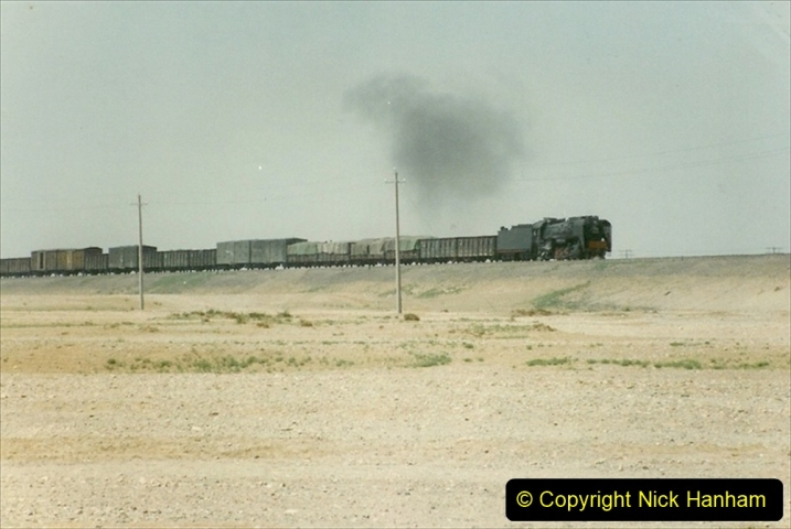Pakistan and China 1996 June. (292) Linesiding outside Shizuishan. 292