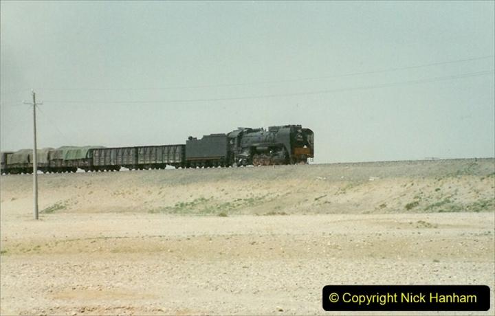 Pakistan and China 1996 June. (293) Linesiding outside Shizuishan. 293