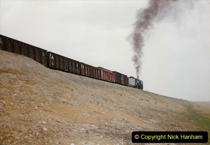 Pakistan and China 1996 June. (295) Linesiding outside Shizuishan. 295