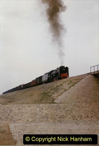 Pakistan and China 1996 June. (296) Linesiding outside Shizuishan. 296
