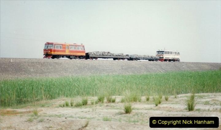 Pakistan and China 1996 June. (402) Rural linesiding. 402