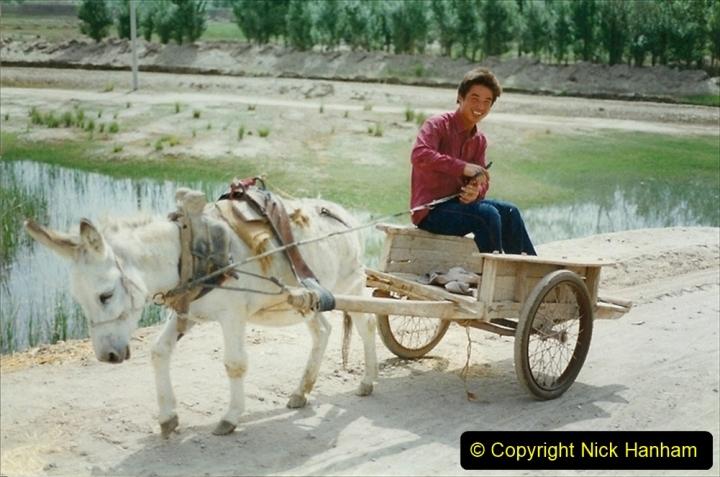 Pakistan and China 1996 June. (406) Rural linesiding. 406