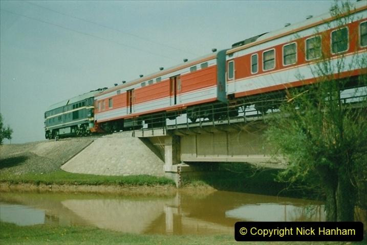 Pakistan and China 1996 June. (408) Rural linesiding. 408