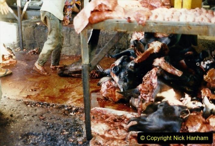 Pakistan and China 1996 June. (44) Karachi.  Local Market.044