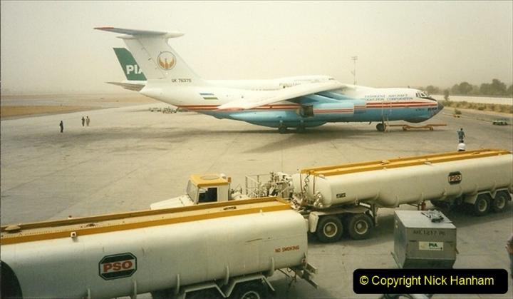 Pakistan and China 1996 June. (6) Islamabad fuel stop. 006