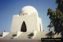 Pakistan and China 1996 June. (17) Jinnah Mausoleum. Jinnah Ali Jinnah, founder of Pakistan, is burried here. 017