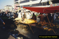 Pakistan and China 1996 June. (51) Karachi.  Local Market. 051