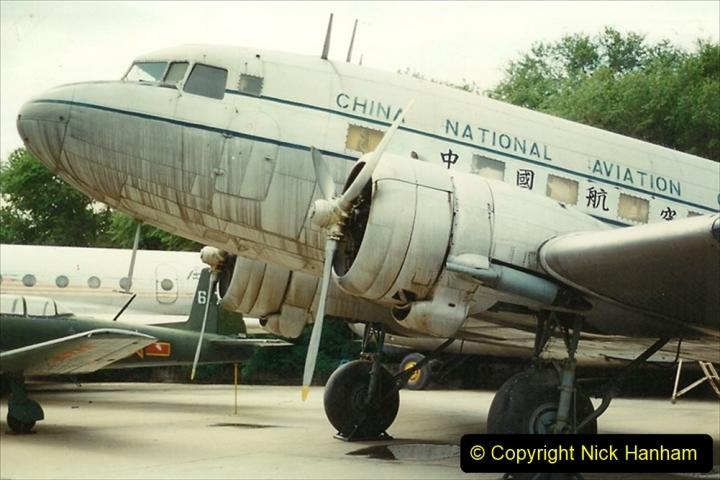 Pakistan and China 1996 June. (154) Aircraft Museum near Beijing. 154