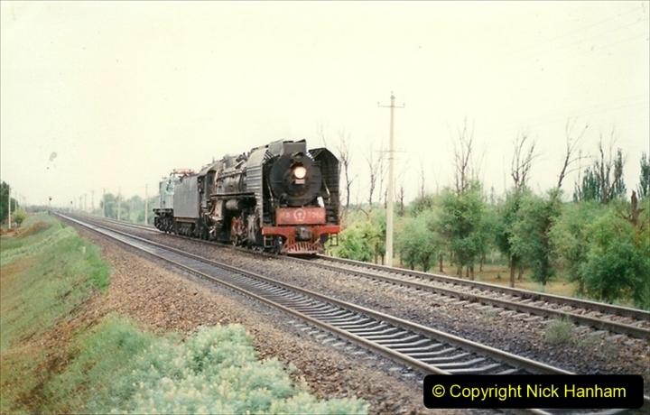 Pakistan and China 1996 June. (23) Linesiding near Baotou. 023