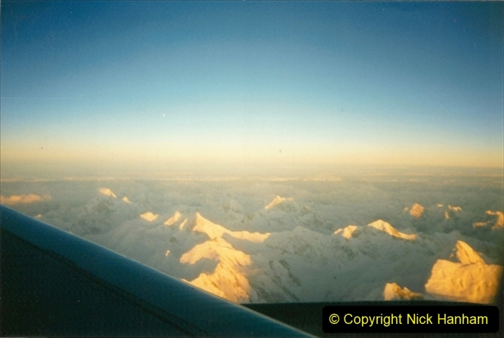 Pakistan and China 1996 June. (233) Flying back over the Himalaya Mountains. 233