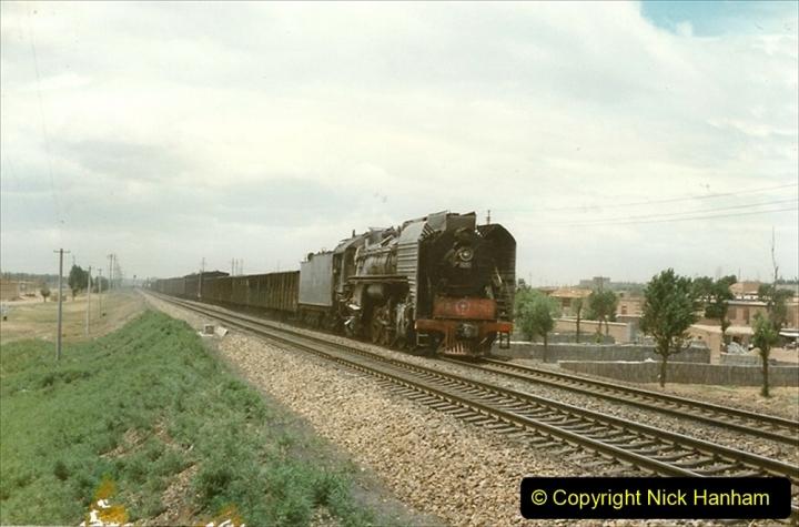 Pakistan and China 1996 June. (33) Linesiding near Baotou. 033