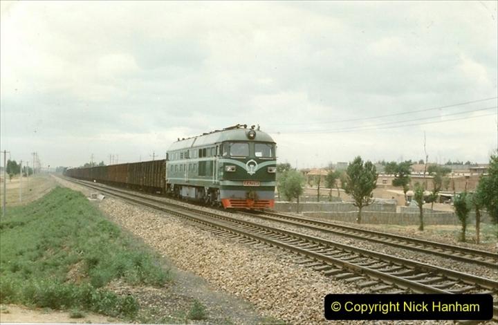 Pakistan and China 1996 June. (35) Linesiding near Baotou. 035