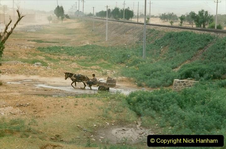 Pakistan and China 1996 June. (40) Linesiding near Baotou. 040