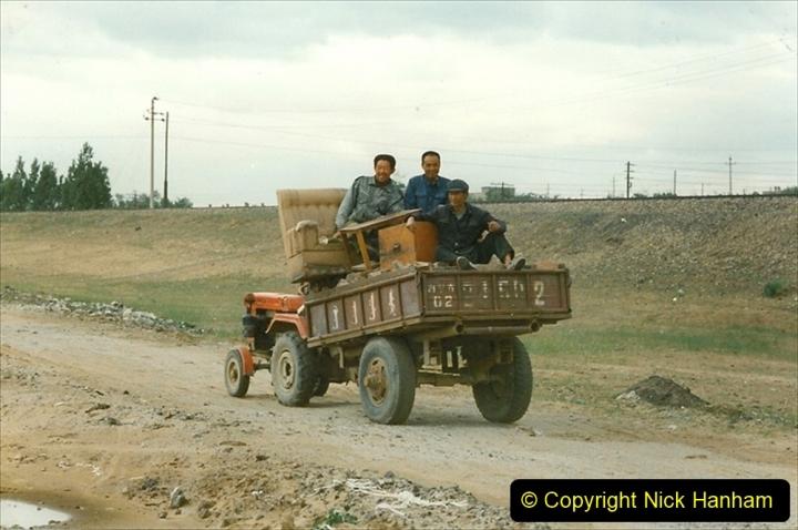 Pakistan and China 1996 June. (57) Linesiding near Baotou. 057