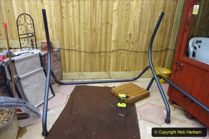 2021-03-26 New garden hammock assembley. Gaeden makeover. (21) 021