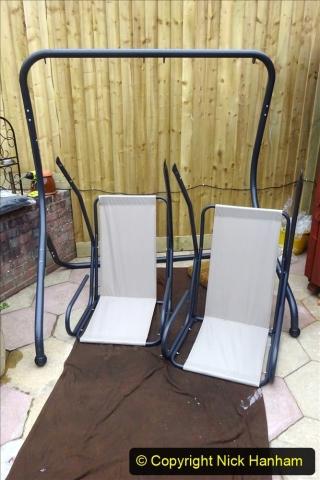 2021-03-26 New garden hammock assembley. Gaeden makeover. (22) 022