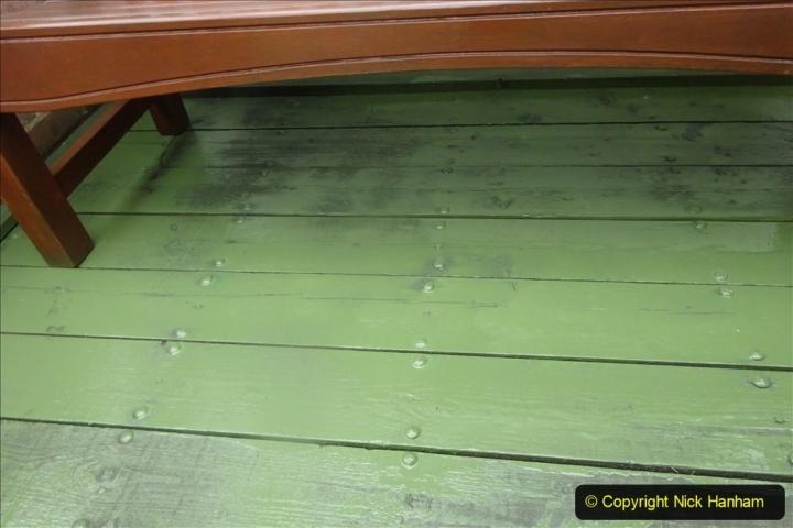 2021-03-31 Spraying deck area green. Garden makeover. (50) 050