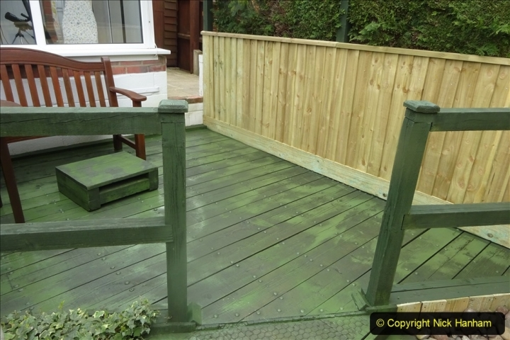 2021-03-31 Spraying deck area green. Garden makeover. (52) 052