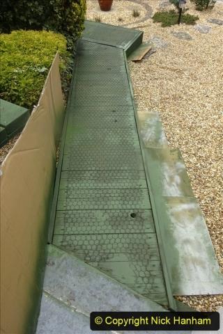2021-03-31 Spraying deck area green. Garden makeover. (54) 054