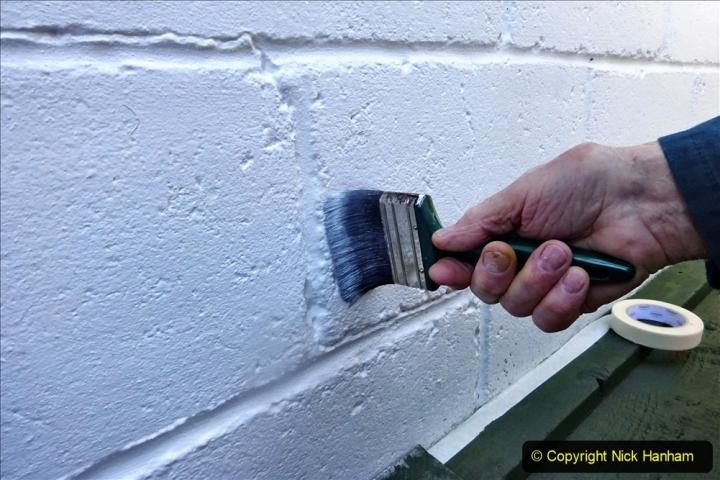 2021-04-04 Deck wall repaint. Garden makeover. (66) 066