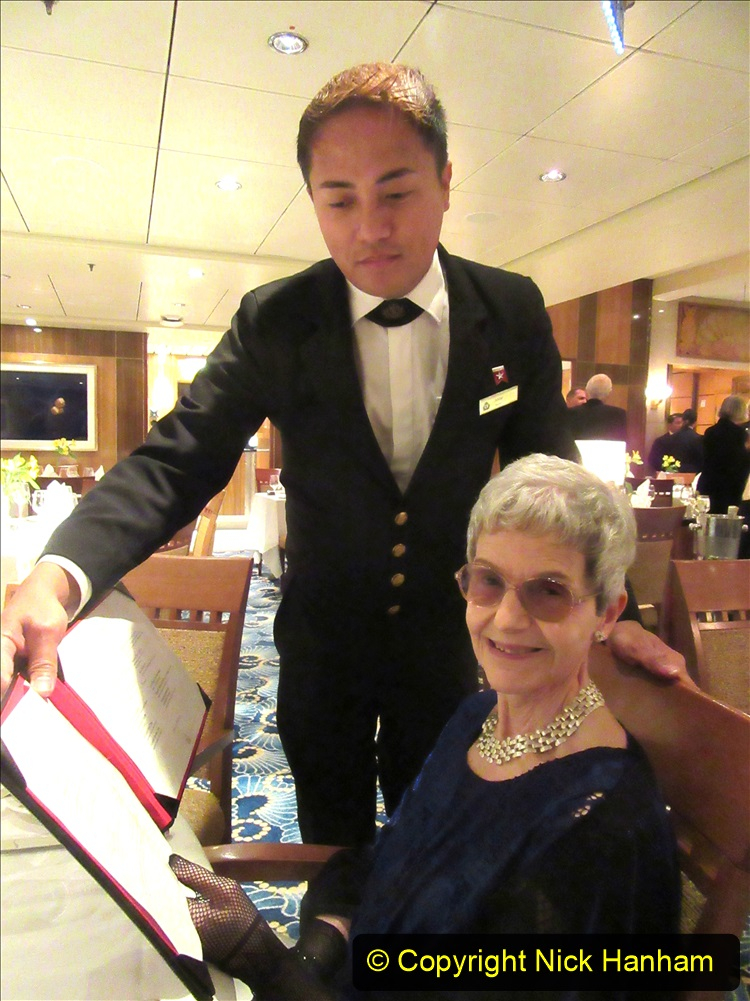 2019_11_03 to 17 Cunard's Queen Mary New York to Southampton @ first Literature Festival at Sea.  (116) Our last formal evening. 116