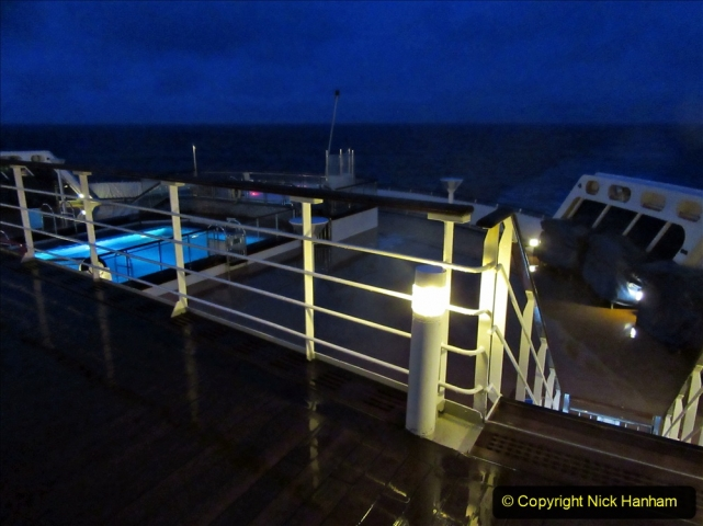 2019_11_03 to 17 Cunard's Queen Mary New York to Southampton @ first Literature Festival at Sea.  (103) Evening round the Promenade Deck. 103