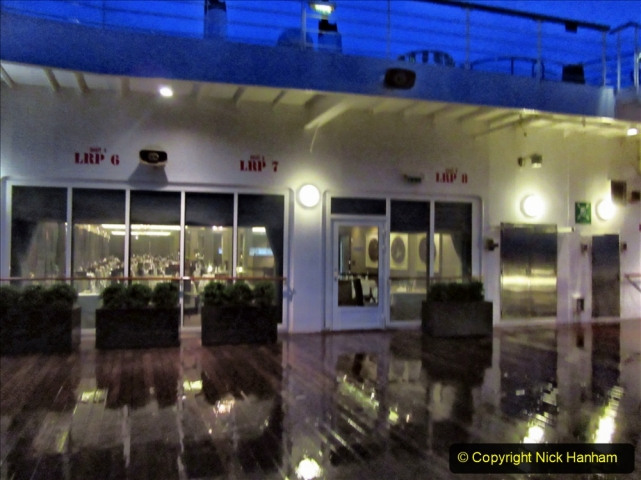 2019_11_03 to 17 Cunard's Queen Mary New York to Southampton @ first Literature Festival at Sea.  (104) Evening round the Promenade Deck. 104