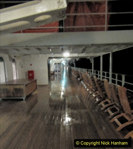2019_11_03 to 17 Cunard's Queen Mary New York to Southampton @ first Literature Festival at Sea.  (106) Evening round the Promenade Deck. 106