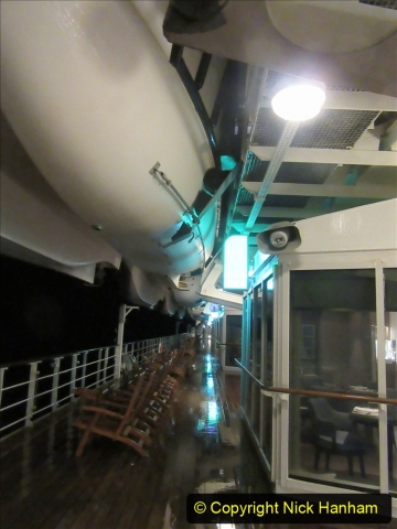 2019_11_03 to 17 Cunard's Queen Mary New York to Southampton @ first Literature Festival at Sea.  (107) Evening round the Promenade Deck. 107