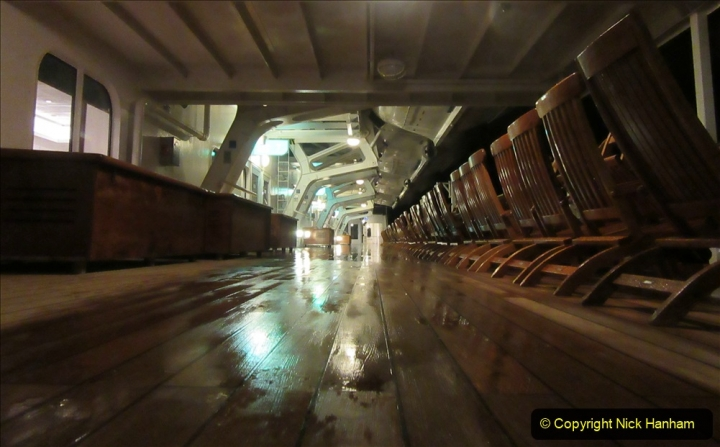 2019_11_03 to 17 Cunard's Queen Mary New York to Southampton @ first Literature Festival at Sea.  (108) Evening round the Promenade Deck. 108