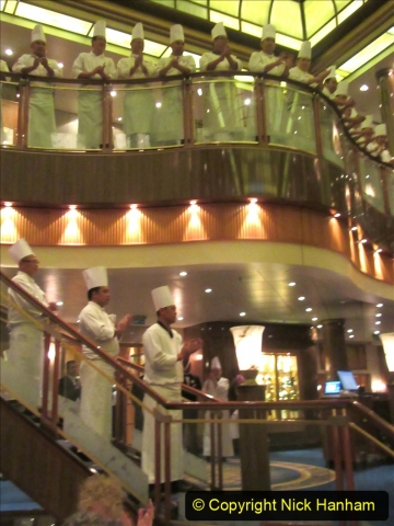 2019_11_03 to 17 Cunard's Queen Mary New York to Southampton @ first Literature Festival at Sea.  (132) Our last formal evening. Chef's Parade. 132