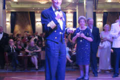 2019_11_03 to 17 Cunard's Queen Mary New York to Southampton @ first Literature Festival at Sea.  (14) Formal Evening with our captain. 014