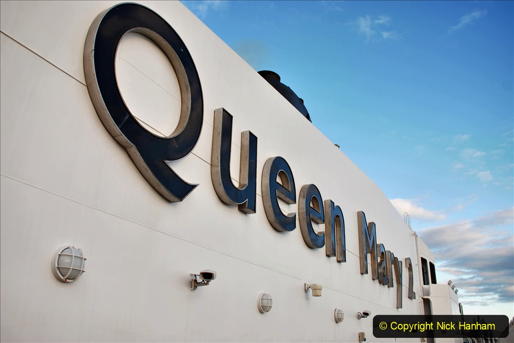 2019-11-03 to 17 Cunard's Queen Mary Southampton to New York. (104) Our ship. 104