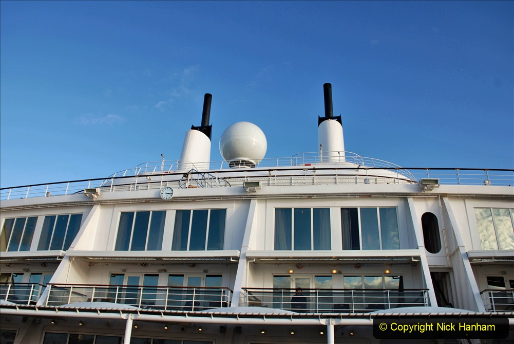2019-11-03 to 17 Cunard's Queen Mary Southampton to New York. (106) Our ship. 106