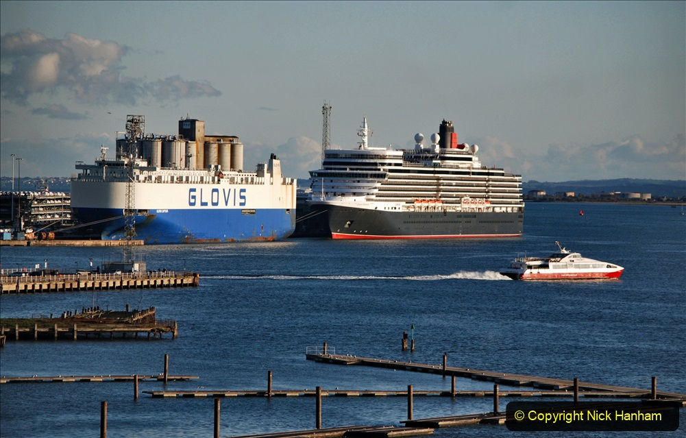 2019-11-03 to 17 Cunard's Queen Mary Southampton to New York. (128) Southampton. 128