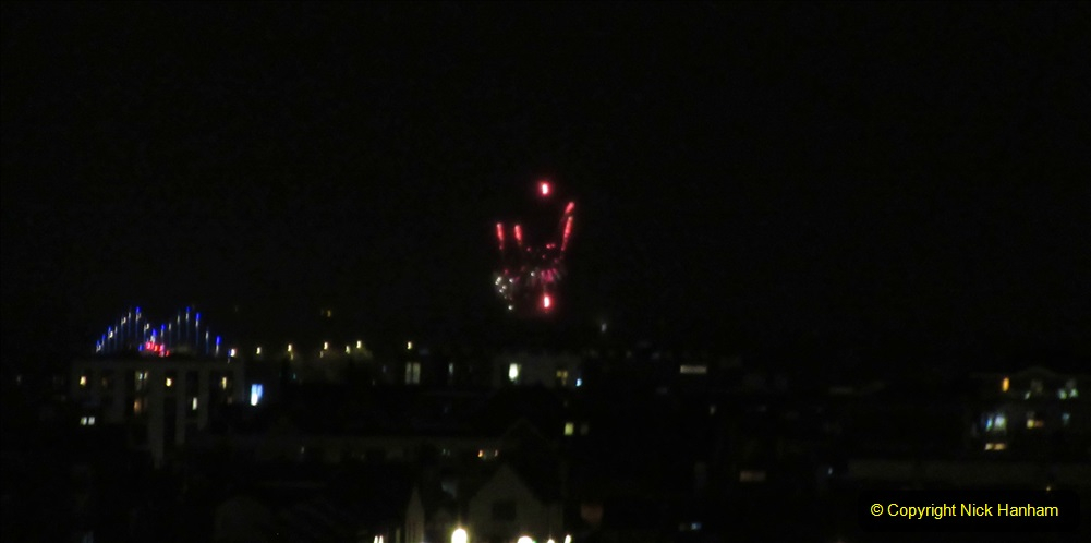 2019-11-03 to 17 Cunard's Queen Mary Southampton to New York. (163) Bonfire night celebration for November 05 as we leave. 163