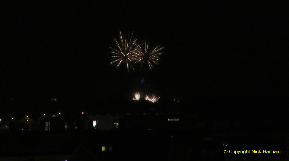 2019-11-03 to 17 Cunard's Queen Mary Southampton to New York. (166) Bonfire night celebration for November 05 as we leave. 166