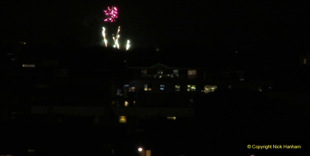 2019-11-03 to 17 Cunard's Queen Mary Southampton to New York. (169) Bonfire night celebration for November 05 as we leave. 169
