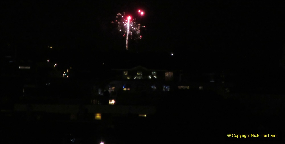2019-11-03 to 17 Cunard's Queen Mary Southampton to New York. (172) Bonfire night celebration for November 05 as we leave. 172