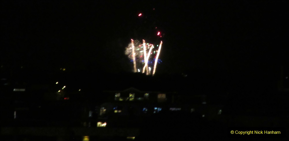 2019-11-03 to 17 Cunard's Queen Mary Southampton to New York. (175) Bonfire night celebration for November 05 as we leave. 175