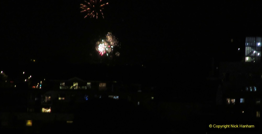 2019-11-03 to 17 Cunard's Queen Mary Southampton to New York. (176) Bonfire night celebration for November 05 as we leave. 176