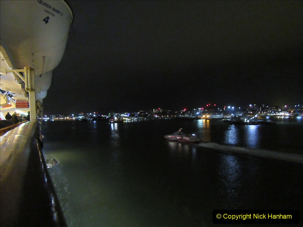 2019-11-03 to 17 Cunard's Queen Mary Southampton to New York. (184) Leaving Southampton for New York. 184