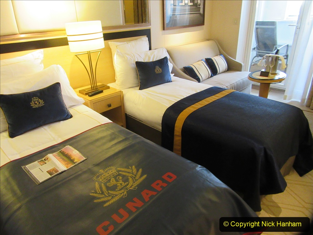 2019-11-03 to 17 Cunard's Queen Mary Southampton to New York. (20) Our ship. 020