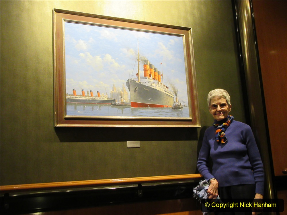 2019-11-03 to 17 Cunard's Queen Mary Southampton to New York. (216) Around the ship. 216