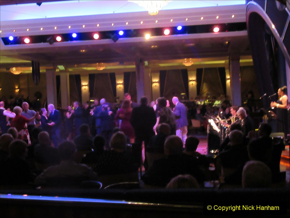 2019-11-03 to 17 Cunard's Queen Mary Southampton to New York. (232) The Queen's Room dancing. 232