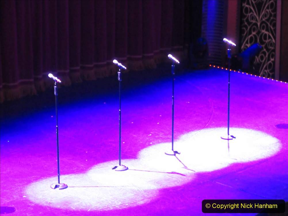 2019-11-03 to 17 Cunard's Queen Mary Southampton to New York. (266) Show time in the Royal Court Theatre. 266