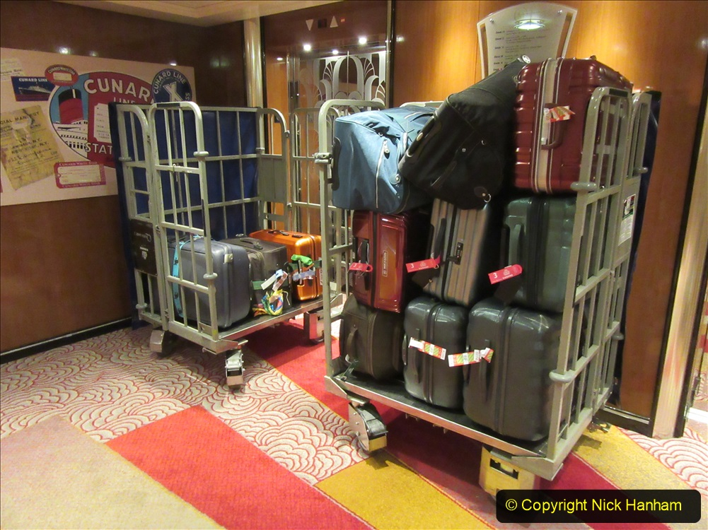 2019-11-03 to 17 Cunard's Queen Mary Southampton to New York. (268) Luggage due to be offloaded in NY. 268