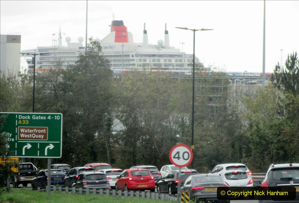 2019-11-03 to 17 Cunard's Queen Mary Southampton to New York. (5) To Southampton from Poole, Dorset. 005